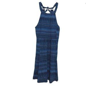 Ibex Merino Wool Dress Tie Back Shelf Bra Abstract